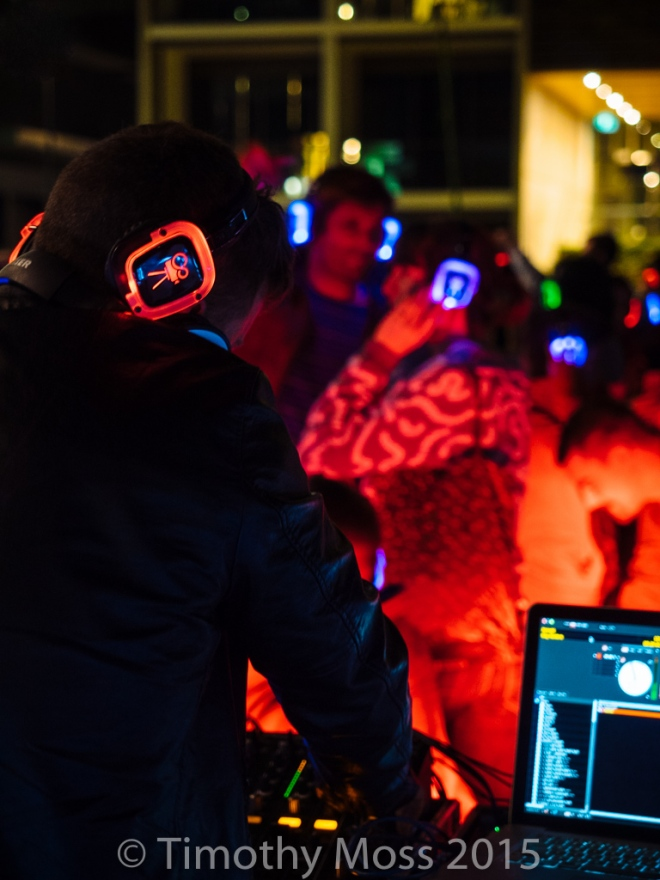 Fun at the silent disco...
